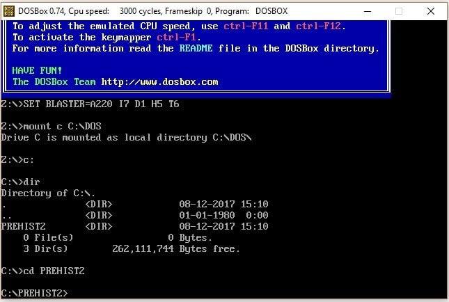 DOSBox emülatörü kurulum adım 4