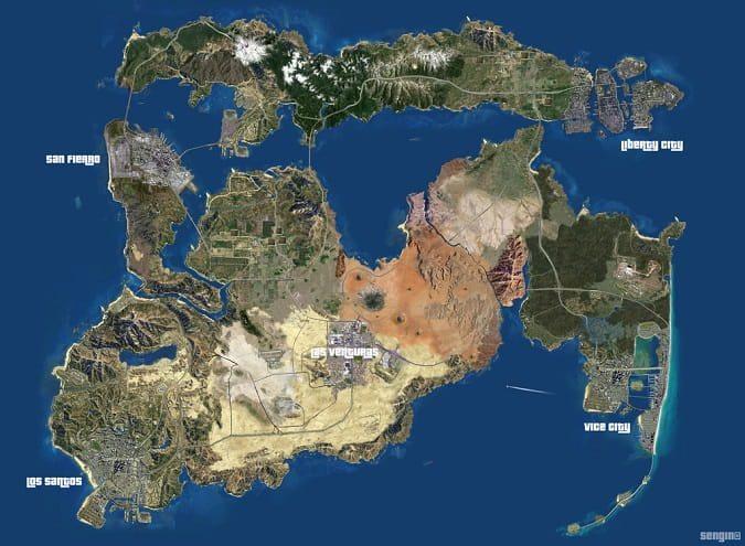GTA 6 haritası