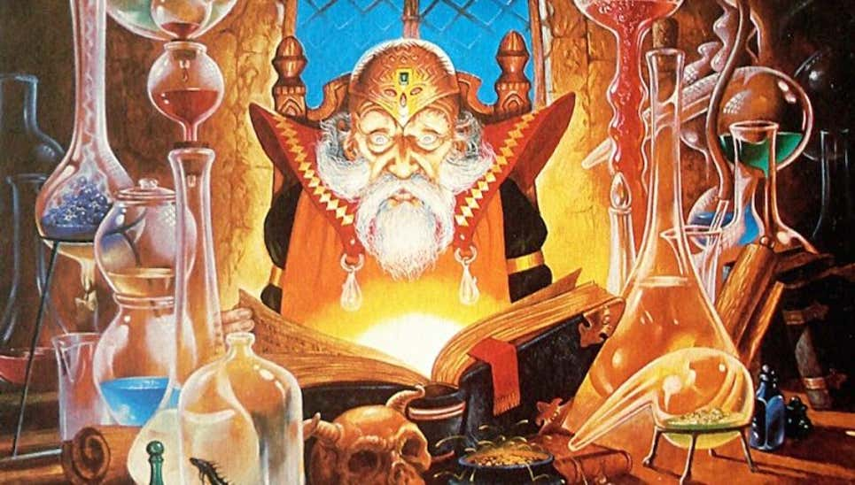Dungeon and Dragons büyücü sınıfı